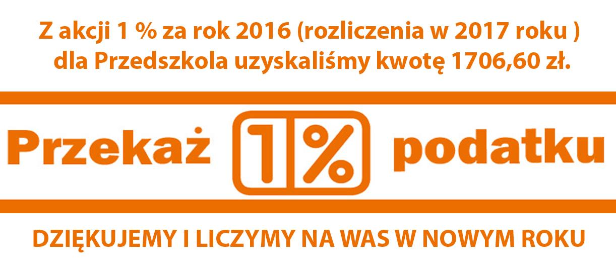 Rozliczenie Akcji 1% za 2016 rok